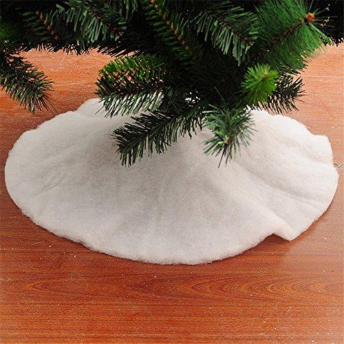 Decoraciones De Navidad Blanco Árbol De Navidad De La Falda Árbol De Navidad Decoración De Parte Inferior(90cm)