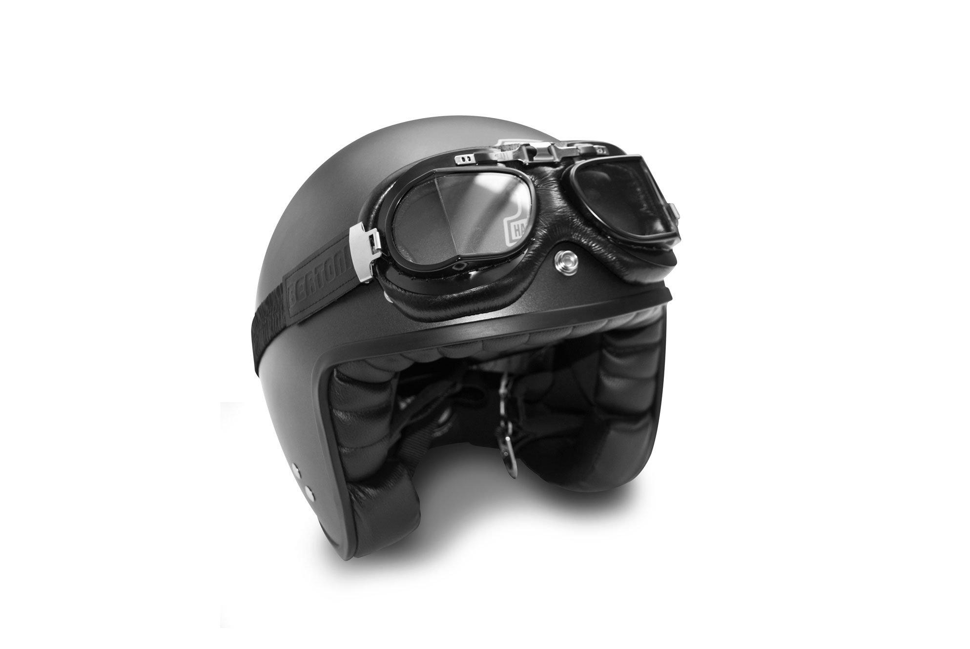 Masque moto aviateur rétro Bertoni AF193L 7