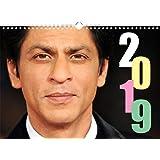 Shahrukh Khan Wandkalender 2019 (13 Blätter, 12 Monatsseiten mit Deckblatt, Farbig, Spiralbindung)