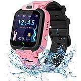Vannico Smartwatch kinderen waterdicht IP68, kinderen intelligent horloge met LBS SOS Kids Smart Watches telefoon touchscreen
