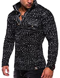 dfc59af8281 MonsieurMode - Pull Fashion pour Homme Pull tz406 Noir - Noir