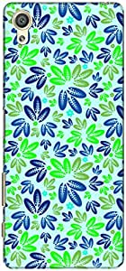 The Racoon Grip printed designer hard back mobile phone case cover for Sony Xperia X. (Green Leaf)