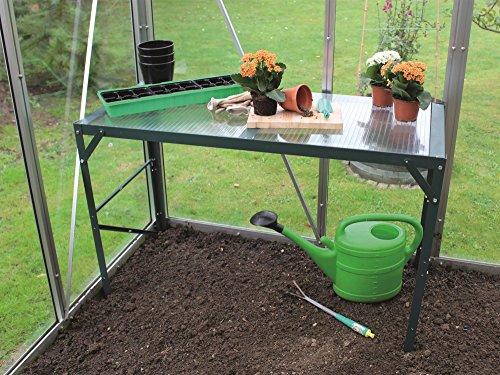 Vitavia Gewächshaus-Tisch, HKP 16mm, Aluminiumgestell, DREI Farben grün