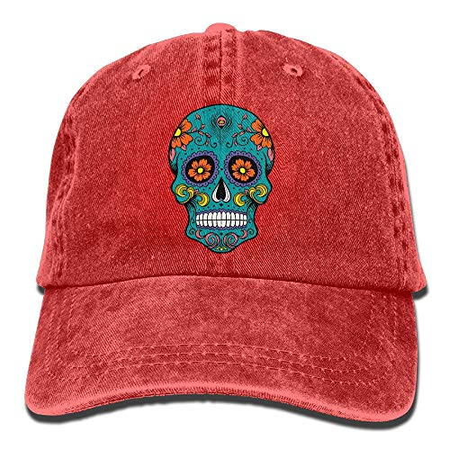 648ea1071 ASKYE Sugar Skull Vintage Jeans Baseball Cap Outdoor Sports Hat For Men and  Women