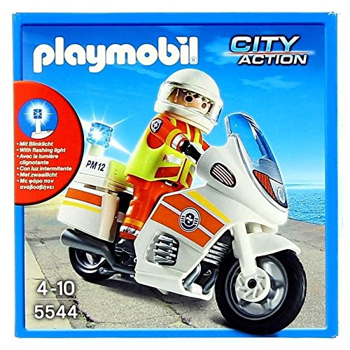 Playm. Notarzt-Motorrad mit Blinklicht   5544