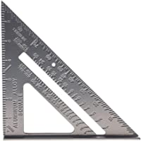 SHAFIRE Double Side Scale Aluminium Alloy Metric Inch Triangle Measurement Hand Tool (Grey, 180 mm)