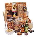 Alkoholfreier Luxus-Geschenkkorb - Traditioneller Lebensmittel-Präsentkorb mit Weidenkorb - Alkoholfreie Geschenkkörbe