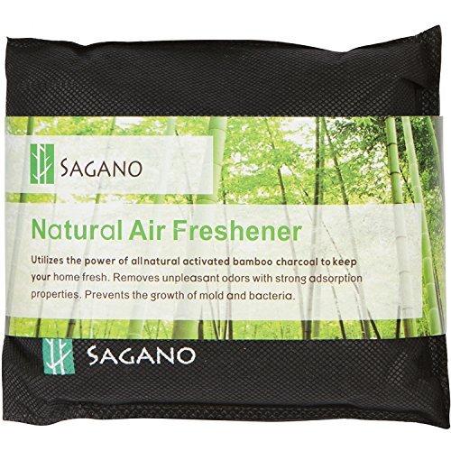 Bester Geruchsentferner Beutel mit Aktivkohle von Sagano - 200 Gramm Beutel - Lufterfrischer für das Auto und den Wandschrank, Haustiergeruch entfernen - natürliche Aktivkohle für ein frisches Zuhause