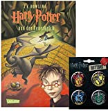 Carlsen Verlag Harry Potter und der Feuerkelch + Einen von 4 Verschiedenen Harry Potter Buttons