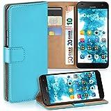 moex Huawei G7 | Hülle Türkis mit Karten-Fach 360° Book Klapp-Hülle Handytasche Kunst-Leder Handyhülle für Huawei Ascend G7 Case Flip Cover Schutzhülle Tasche