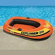 "Intex Explorer 200, 2-Person Inflatable Boat, Orange, 58330Ep, 73""X37"