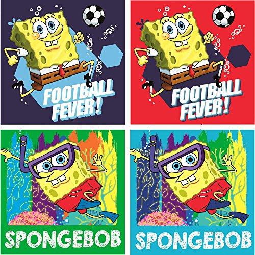 Éponge Tête Sponge Bob Lot de 4 gants de toilette en tache