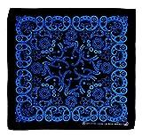 Schwarz Blau Kopftuch Bandana Halstuch Biker Sport Tuch Kopfbedeckung