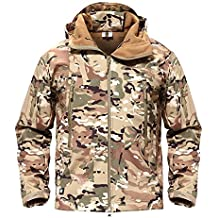 MAGCOMSEN Uomo Tattico Esercito All'aperto Cappotto Camouflage Softshell Giacca Caccia Giacca