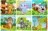 #9: Vibgyor Vibes Wood Jigsaw Puzzles for Children (9 Pieces, Pack of 6)