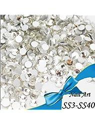 Sindy SS3-SS30 Décorations strass à dos plat pour ongles Ne nécessitent pas de colle à chaud Nail Art en 3D