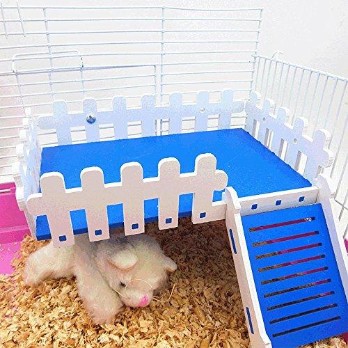 Animal Animal de petite taille Maison Plateforme en bois pour hamster gerbille Cochon d'Inde Rat Mouse chinchillas écureuil