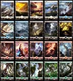 Magic the Gathering: Battle for Zendikar x4 Playset of ALL 25 FULL ART Basic Lands by Magic: the Gathering