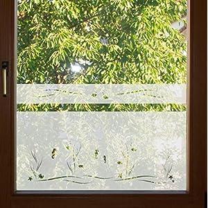 604 / 65cm hoch Sichtschutz Folie Fenster Sichtschutzfolie Fensterfolie Glasdekor Sichtschutzfolie Window blickdicht wasserfest selbstklebende Folie