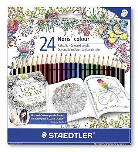Staedtler 185 C24JB - Buntstifte Noris colour Set 24 farben, Exklusive Johanna Basford Edition
