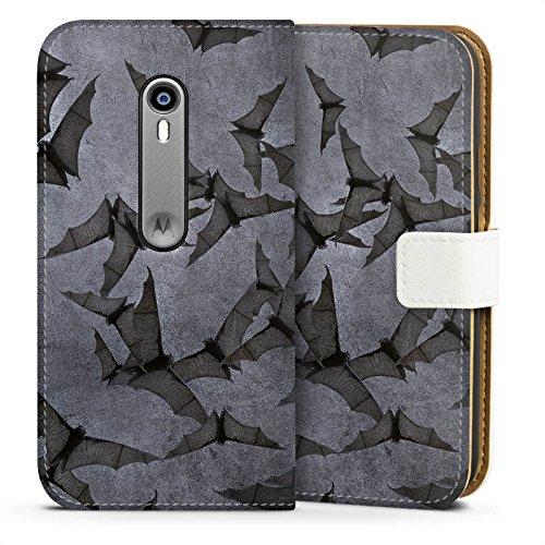 Motorola Moto G3 Tasche Hülle Flip Case Fledermaus Bat Vampir (G3-fledermaus-tasche)