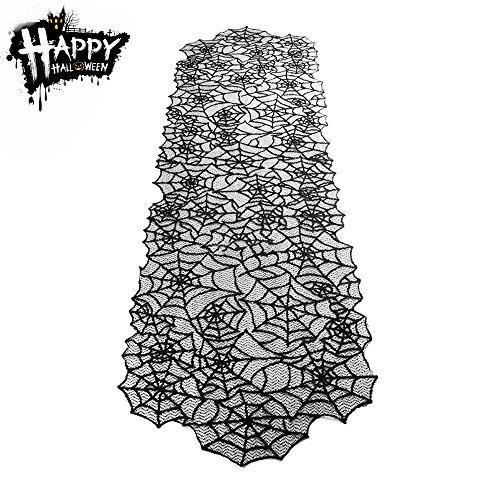 Einfach Für Kostüme Halloween (Fypo Halloween Tischdecke Schwarze Tischläufer Spinnennetz Tischband Abdeckung Kostüm Party Tischdekoration (47 * 210)