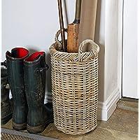 Bowley & Jackson Malmesbury classic tall roll top willow wicker umbrella basket
