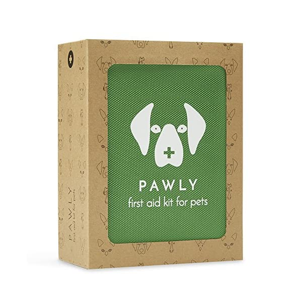 Pawly Pet First Aid Kit - Includes Over 40 Premium Items - Tick Remover, Syringe, Vet Wrap, Bandages, Wipes and Lancets 1