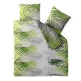 Bettwäsche Baumwolle 200x220 CelinaTex 0003601 Fashion Zoe grün grau weiß Wendedesign