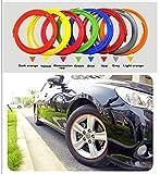 Auto Kreis Felgenschutz für Trim Decor (rot)