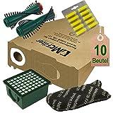 Spar Angebot Staubsaugerbeutel Filter Set und Bürsten Duft passend für Vorwerk Kobold VK 130 , Kobold VK 131 und 131 SC mit EB 350 / EB 351
