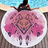 Stillshine Toalla de playa, 150CM Round Mandala Tassel Beach Throw, Roundie Yoga Mat Table...