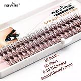 Navina 10 Flairs False eyelash 60 individual Mink lashes natural maquiagem cilios Fake
