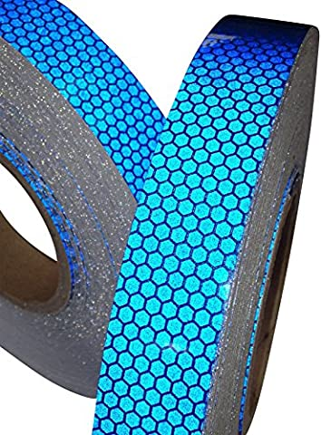 Hi Viz High Intensity Reflective Tape Blue 25mm X 2.5m Weatherproof Strong