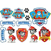 Edible Icing PAW Patrol Marshall Dogs Signs Cake Toppers