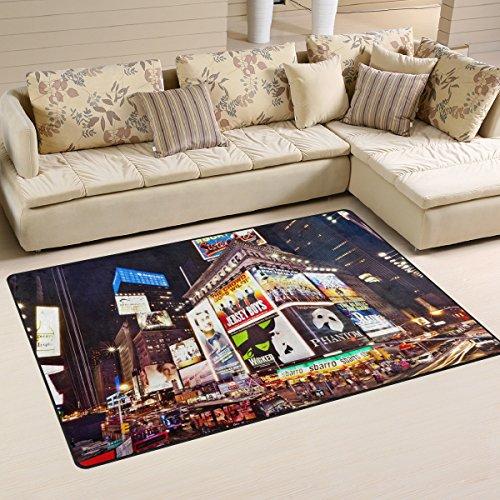 Naanle Rutschfester Teppich mit