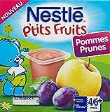 Nestlé Bébé P'tits Fruits Pommes Prunes - Compote dès 6...