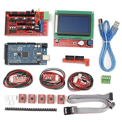 ILS - 3D Printer Kit für Arduino Reprap RAMPS 1.4 Mega2560 A4988 Antrieb LCD12864 Anzeige Endstop Schalter