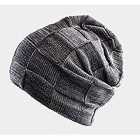 sheng Chapeau hommes hiver coréen épais chaud chapeau froid mode sauvage tricot chapeau gris