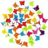 20/50/100 pezzi Carino Donne Ragazze Colore Misto Accessori Per Capelli Mini Forcine Per Capelli Bambini Baby Farfalla Fermag