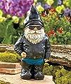 Motorradfahrer Gartenzwerg Statue - Outdoor Garten Figur in Motorrad-Lederjacke - Exzellentes Gartenornament / Rasenkunst - Lustige Rasenstatue - Perfekte Geschenkidee - 22cm groß von Gnome bei Du und dein Garten