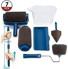 ARTISTORE Set di Rullo per Pittura Multifunzione Professionale Pennello con Impugnatura Telescopica Migliorata Pennello per DIY 7psc
