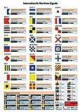 Internationale Maritime Signale: Alle nautischen Signale übersichtlich auf einem Poster DIN A3, laminiert, zum Anbringen im Boot