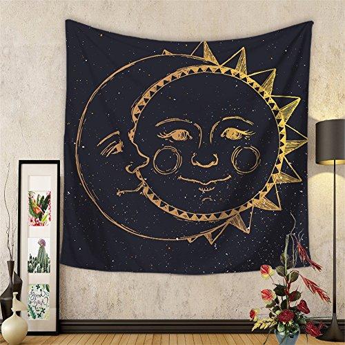 Tapiz decorativo, con estampa impresa tipo mandala, estilo indio, celestial y hippie, colgar en la pared, decoración para las habitaciones de la casa, gran idea para regalo de Navidad (HYC20), 1#, 150X130cm