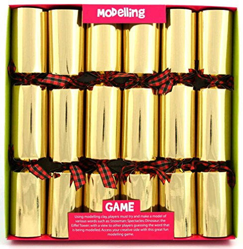 6 x 12 Play Dough Modelling Game Christmas Crackers