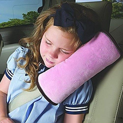 Oreiller pour ceinture de sécurité pour enfants Defgo de voiture Harnais Ceinture de sécurité épaule Pad Coque appuie-tête support de cou pour enfants Kid Adulte rose rose
