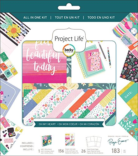 American Crafts Project Life All-In-One Album Kit-Paige Evans Oh My Heart