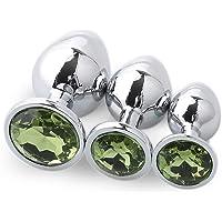 Fond rond vert clair Ànâl 3 pièces/ensemble cristal diamant métal pierres précieuses accessoires pendentif ensemble de…
