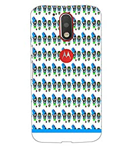 Printdhaba Skull Pattern D-1946 Back Case Cover For Motorola Moto G4 Plus