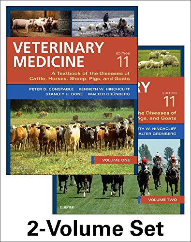 Veterinary Medicine: A textbook of the diseases of cattle, horses, sheep, pigs and goats - two-volume set -